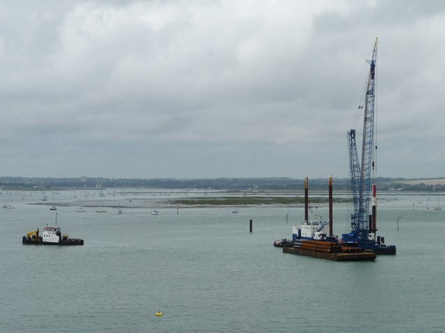 Pontoon in Portsmouth Harbour