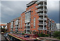SP0586 : New flats by the Birmingham Canal by N Chadwick