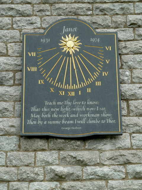 Sundial, St Anne's Church, Over Haddon