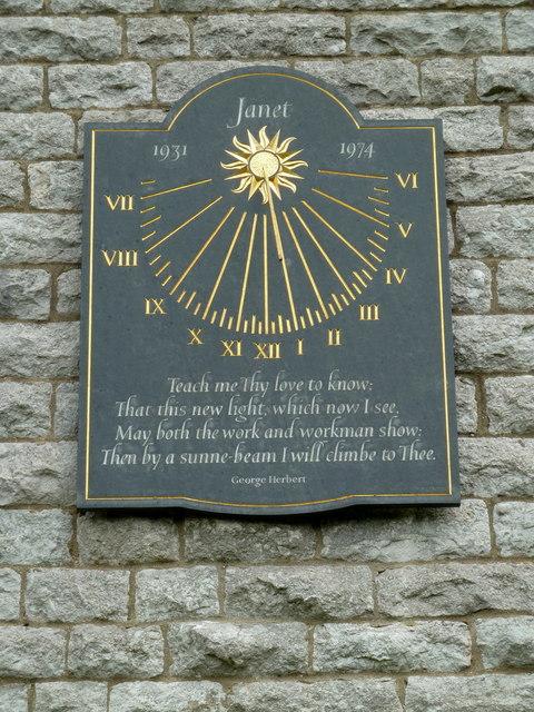 Sundial, St Anne's Church, Over Haddon