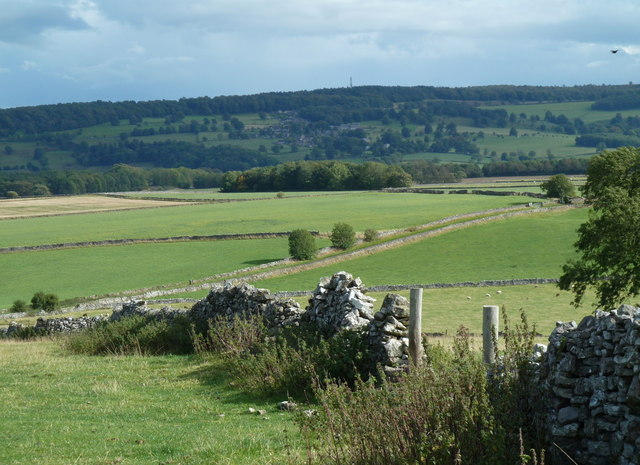 Countryside view east of Over Haddon