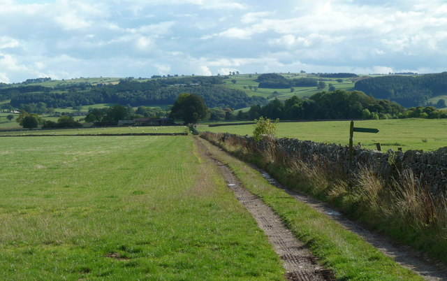 Track across the Haddon Fields