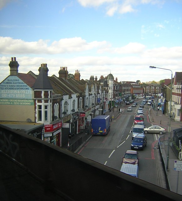 London Road, Norbury, as seen from the train