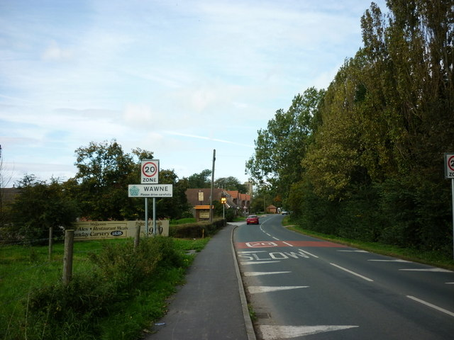 Entering Wawne, East Yorkshire