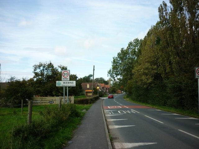 Entering Wawne, East Yorkshire