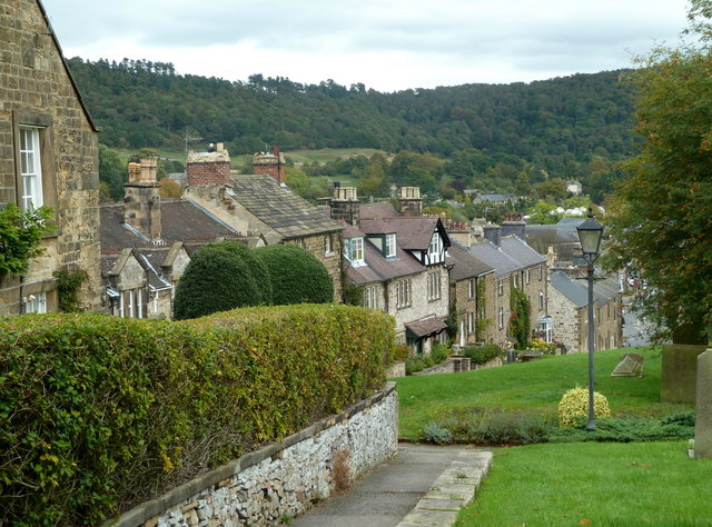 Hillside houses, North Church Street, Bakewell