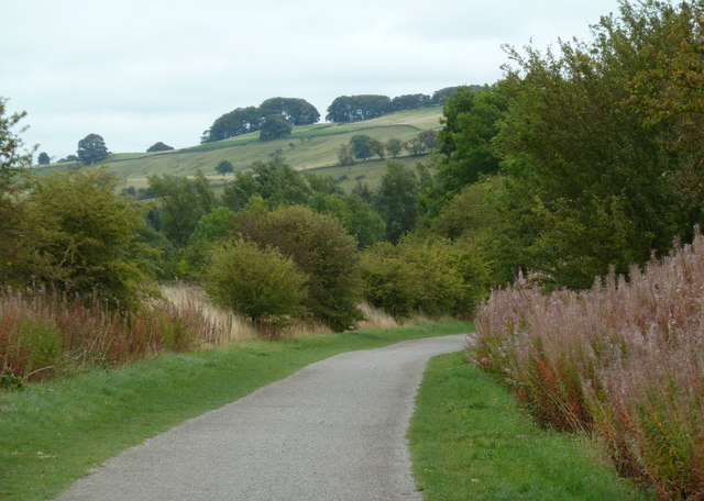 Monsal Trail towards the former station at Hassop