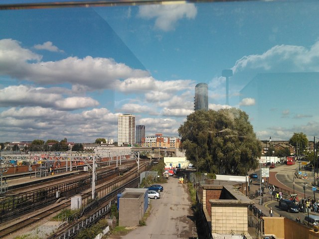 View of the railway lines out of Stratford