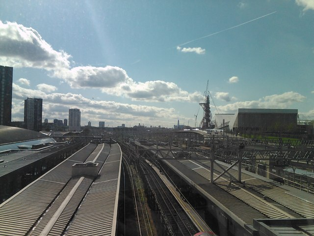 View of the railway lines out of Stratford #2