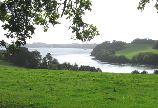 Looking South over Channels Creek, Trelissick Gardens