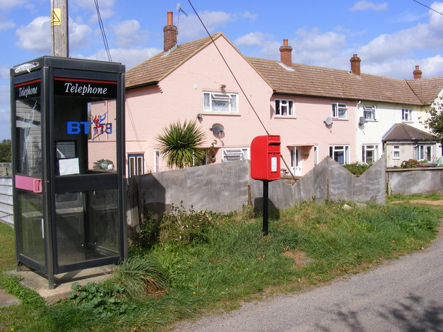Telephone Box & Cotton Acre, Boyton Postbox