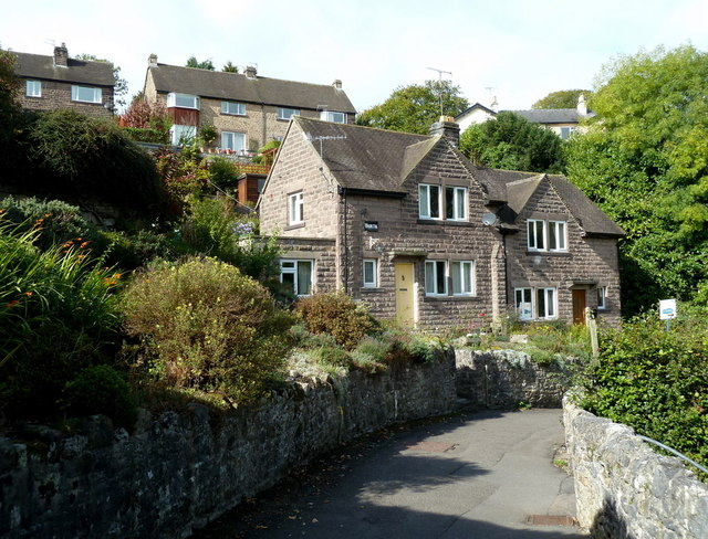 Hillside houses in Bakewell