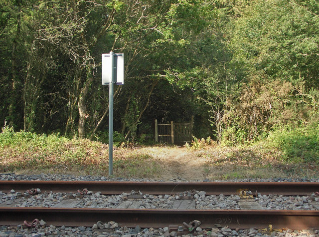 Railway crossing near the former Cefn Junction