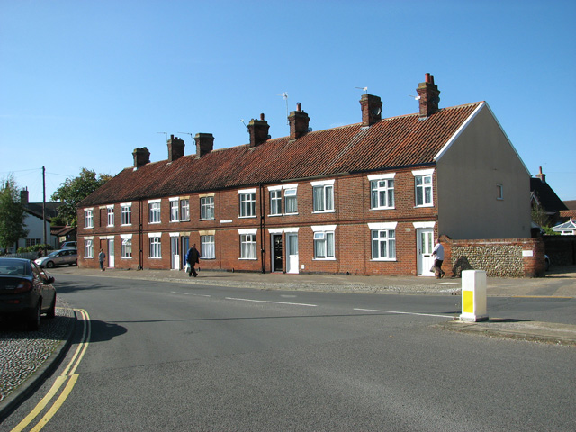 Cottages in Avenue Road, Wymondham