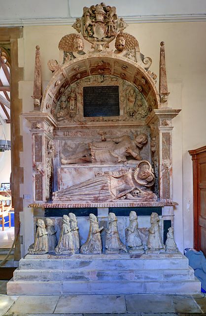 William Uvedale tomb & monument - St Nicholas's church, Wickham