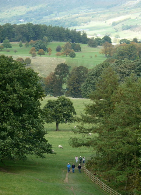 Chatsworth Park, footpath to Edensor