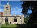 TL4748 : Whittlesford village church by Logomachy