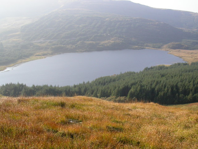 Loch Doire nam Mart from Tom na h-Innse Cuilinn