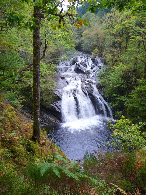Waterfall on River Lochy