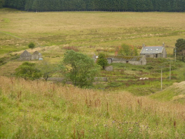 Wrightstone, farm buildings in Deveron valley