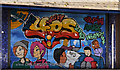 J3374 : Decorated shutter, Belfast (1 of 2) by Albert Bridge