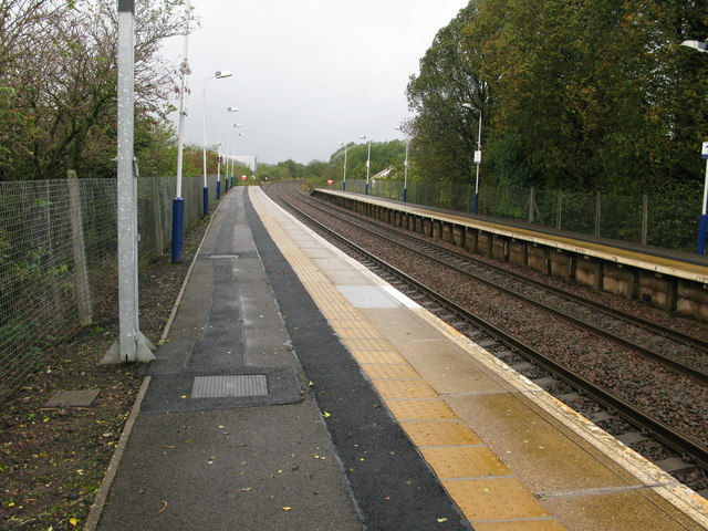 Nitshill railway station, looking West