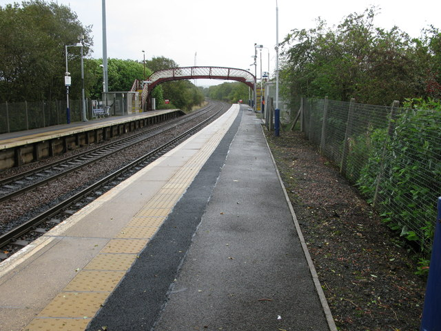 Nitshill railway station, looking East