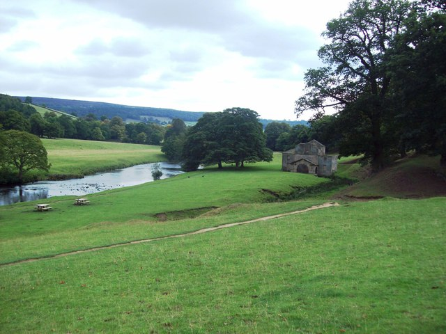 Mill, River and Picnic Area on the Chatsworth Estate