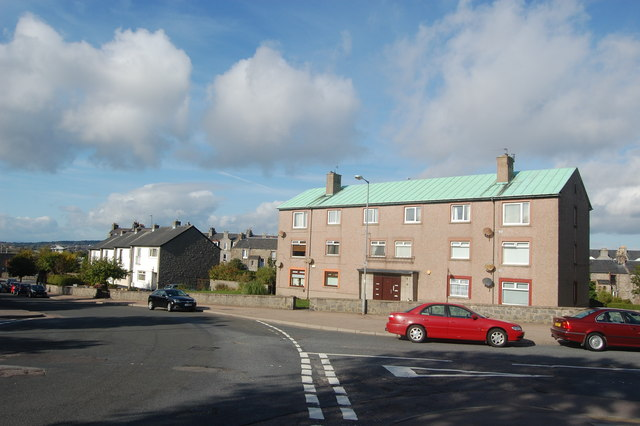 Up the hill, Grampian Place, Torry