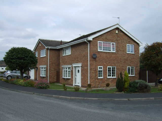 Houses on Castlegate Drive, Pontefract