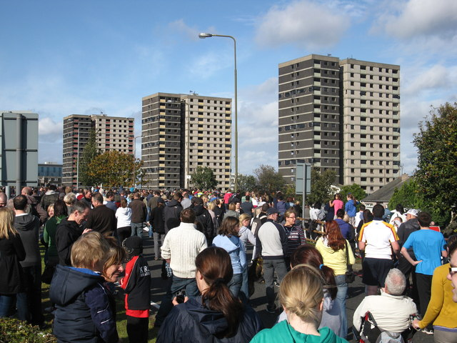 Sighthill flats before demolition