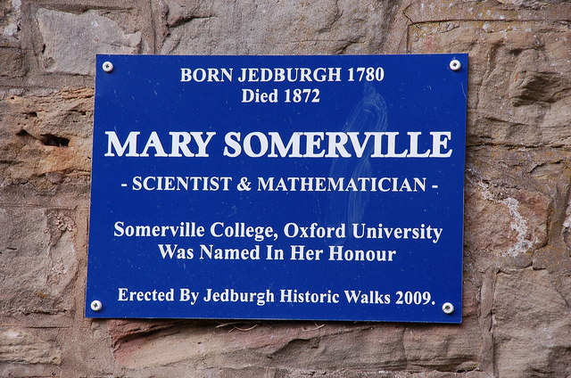 Plaque to Mary Somerville, Jedburgh