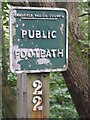 SK2994 : Public Footpath sign by Dave Pickersgill