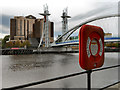SJ8097 : Salford Quays, Quay West and the Lowry Bridge by David Dixon