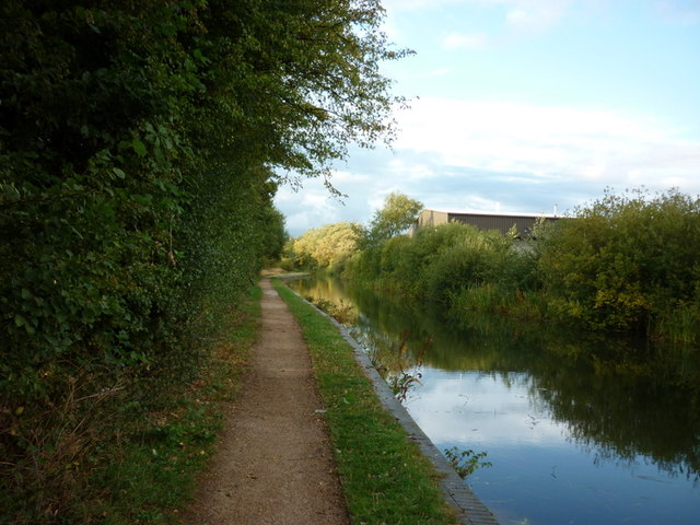 The Daw End Canal  at Maybrook Industrial estate