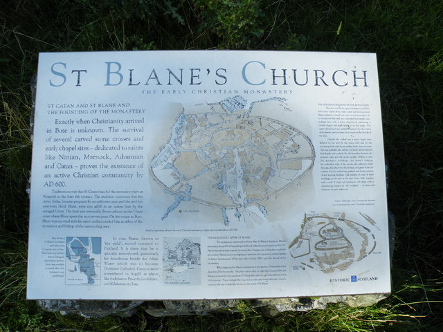 Information Board at St Blane's Church