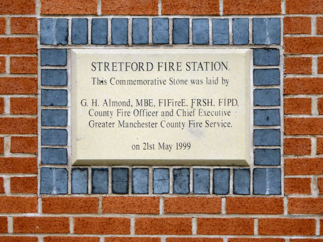 Stetford Fire Station Commemorative Stone