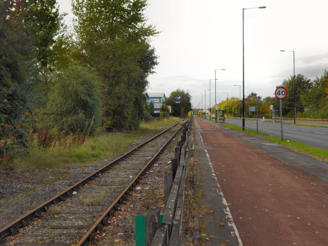 Railway Line, Barton Dock Road