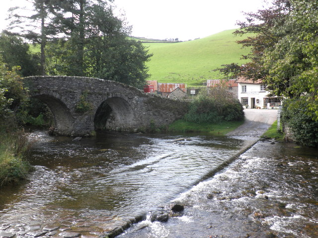 Ford and bridge, at Malmsmead