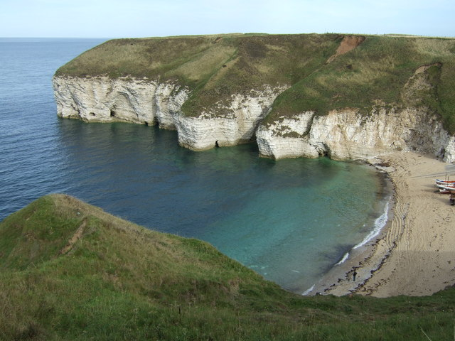 North Landing Beach and cliffs