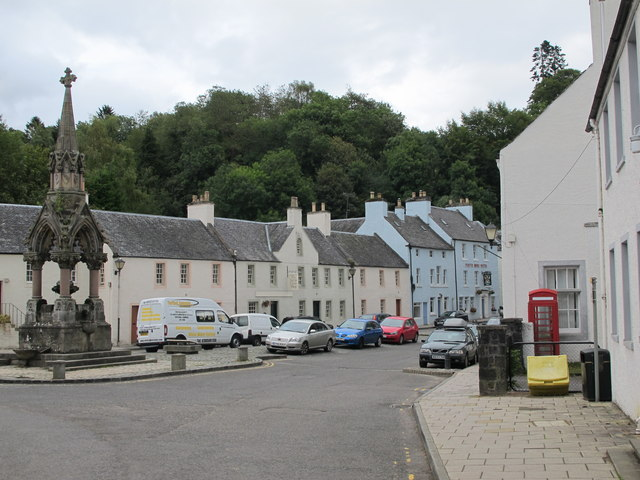 Historical houses in Dunkeld