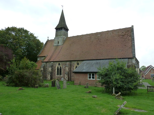 Rear of St Matthew, Netley Marsh
