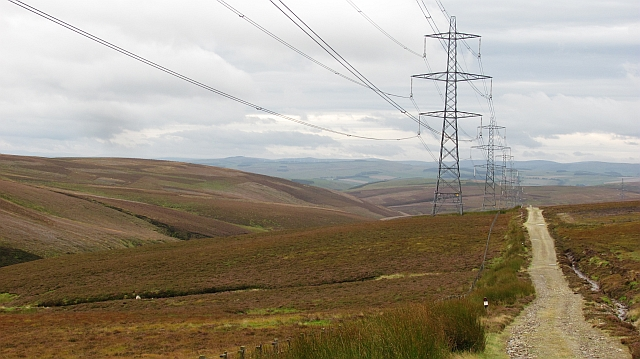 Pylon and service road, Longhope Rig
