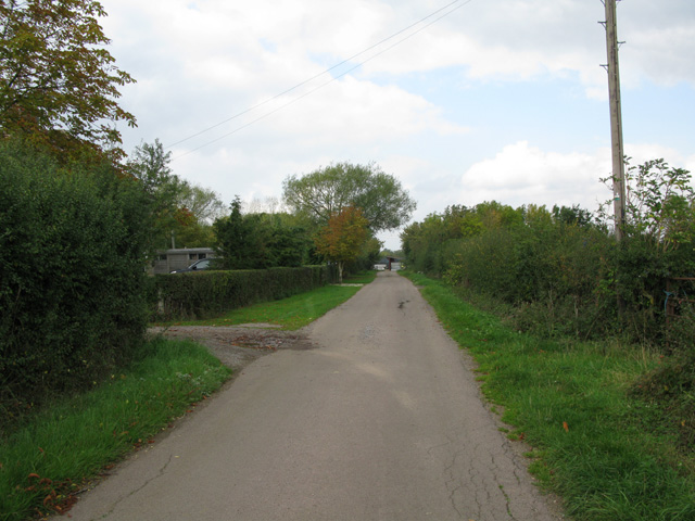 The end of the lane at North Leaze Farm
