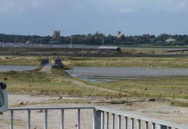 Looking back towards Orford from Orfordness