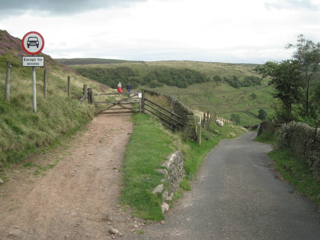 Track and lane at Cut-thorn