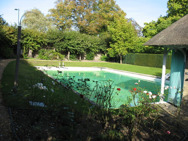 The swimming pool at emmanuel college david purchase geograph britain and ireland Swimming pools in cambridge uk