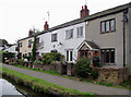 SJ5680 : Row of cottages at Preston Brook, Cheshire by Roger  Kidd