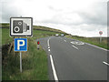 SK0069 : Lay-by and signs, A54 near Sparbent.  by Robin Stott