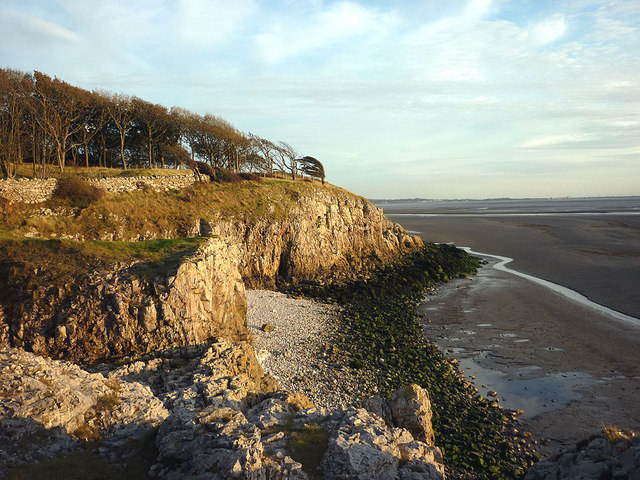 A rocky shore at Silverdale